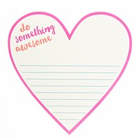 Do Something Awesome Heart Diecut Notepad in Hot Pink