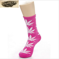 Best Selling Germany's Harajuku Hiphop Women's Maple Leaf Sock Cotton Hose Long Skateboard Hip-hop Socks for Female