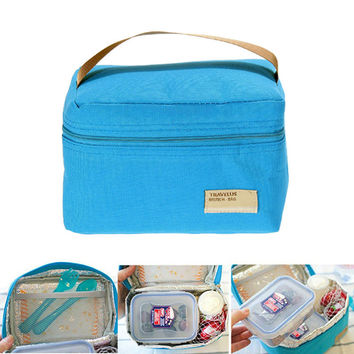 Portable Lunch Box Bag Insulated Thermal Cooler Bento Lunch Box Tote Picnic Storage Bag bolsa almuerzo sac repas bags for food