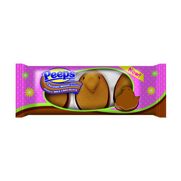 PEEPS & COMPANY Online Candy Store: Shop Now : 3 CT TRAY MILK CHOC DIPPED CHOCOLATE MOUSSE FLAVORED PEEPS CHICKS