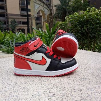 Kids Air Jordan 1 Red Sneaker Shoe Size US 11C-3Y