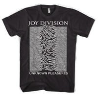 Post Punk Band Joy Division Unknown Pleasure Unisex T Shirt Casual Black Tee