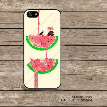 iPhone5s Case iPhone 4 case iPhone 5C Case iPhone5 Case iPhone Case The whale watermelon Samsung Galaxy s3 Galaxy s4 - M5143