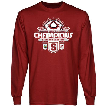 Stanford Cardinal 2011 NCAA Division I Women's College Cup Champions Long Sleeve T-Shirt - Cardinal