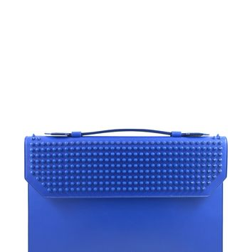 Christian Louboutin Blue Studded Briefcase (Retail $1300)