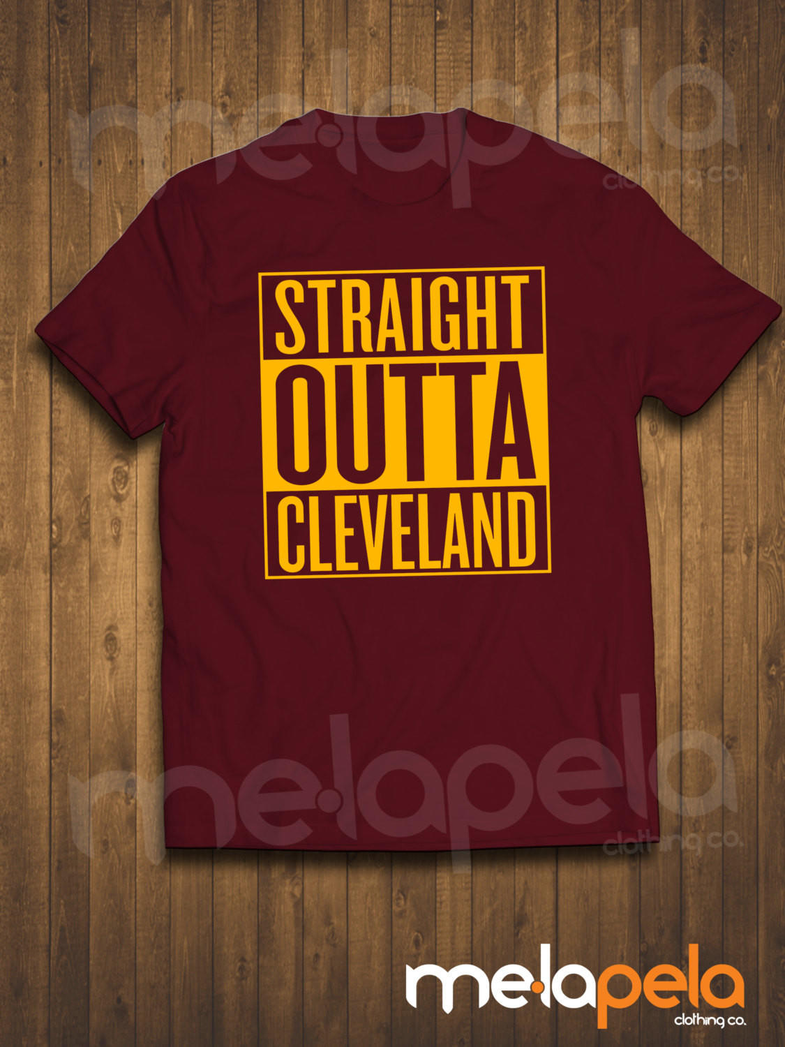 075d250d1 Straight Outta Cleveland   Akron T-Shirts (Cavaliers Colors) Adult Sizes