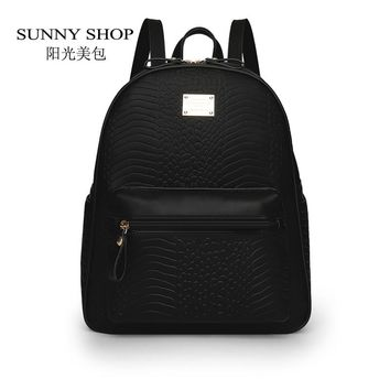 SUNNY SHOP Korean Preppy Backpack Fashion Women Waterproof Fabric  Bagpack School Bags For Teenagers  Casual Daypack
