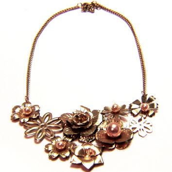 Delicate Gold Gilded Flower Necklace