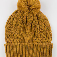 Basic Cable Knit Pom Beanie | Beanies