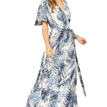 Palm Wrap Maxi Dress