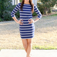 Can't Go Wrong Dress - Navy
