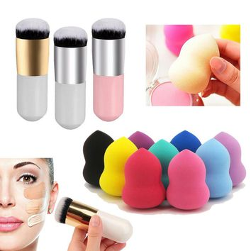 BITTB Face Beauty Makeup Tool Set Brush & Sponge Blender Brush Dry Wet Cosmetic Puff Blush Foundation BB Cream Puff Makeup Set