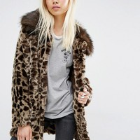 Unreal Fur Venus Faux Fur Leopard Coat at asos.com
