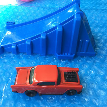 ON SALE 1995 Hot Wheels Car + Ramp! Chevy! Fun! Mint! Vintage Toy Retro Great Gift
