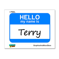 Terry Hello My Name Is Sticker