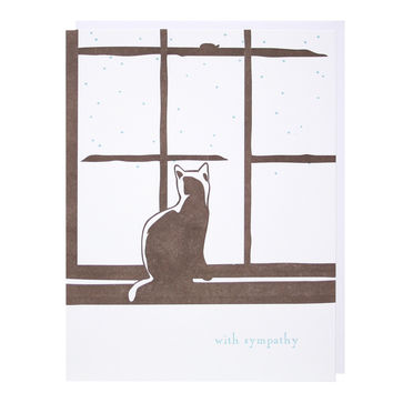 Cat in Window Sympathy Card