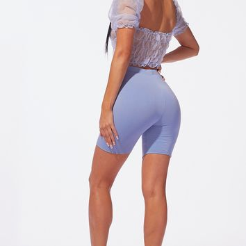 Luxe Basic Biker Shorts Sky Blue