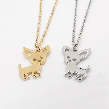 New Arrival Cute Chihuahua Pet Pendant Necklaces for Women Love My Pet Animal Dog Necklace Choker Jewelry Birthday Gifts