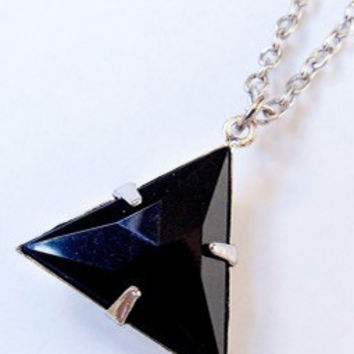 Now or Never Black Triangle Necklace