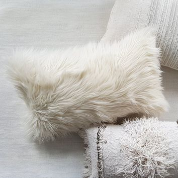 POLAR faux fur throw pillow