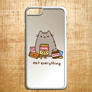 Pusheen The Cat Eat Everything for iphone 4/4s/5/5s/5c/6/6+, Samsung S3/S4/S5/S6, iPad 2/3/4/Air/Mini, iPod 4/5, Samsung Note 3/4, HTC One, Nexus Case*PS*