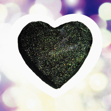 Anti-Valentine (black bath bomb with glitter. Will not stain your skin or tub! Valentine's Day)