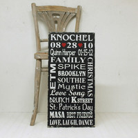 Custom Wedding Love Story Sign or Family Memory Sign. Customize Your Special Memories. Choose Your Wording