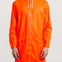 Rains Orange Long Waterproof Jacket - Men's Jackets & Coats - Clothing