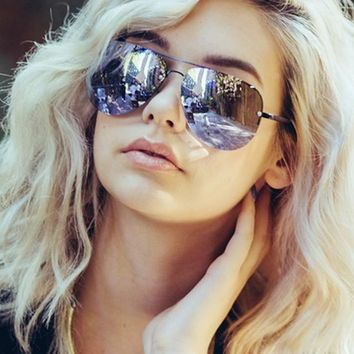 Quay x Amanda Steele Muse Sunglasses in Black/Purple