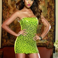 Leopard Print Versatile Seamless Dress G-String Set