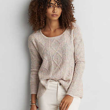 AEO Textured Jegging Sweater , Cream