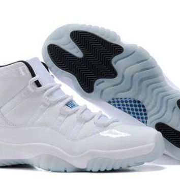 Cheap Air Jordan 11 Original Columbia White Blue Black Shoes