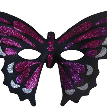 costume mask: butterfly masquerade mask purple Case of 2