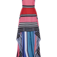 Double Silk Georgette High-Low Dress | Moda Operandi
