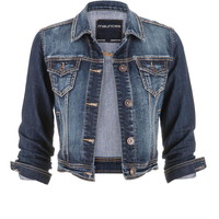 medium wash denim jacket