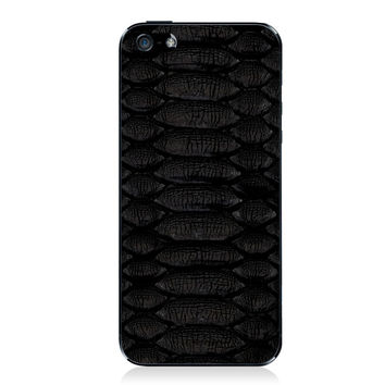 Black Python iPhone 5/5s Leather Back