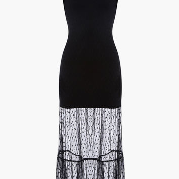 Sheer Dots Soft Mesh Maxi Dress