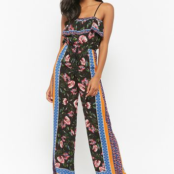 Tropical Print Cami Jumpsuit