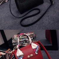 Womens Cute Classic Mini Scarf Handbag