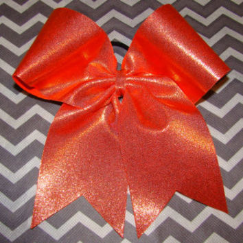 Orange Mystic Cheer Bow
