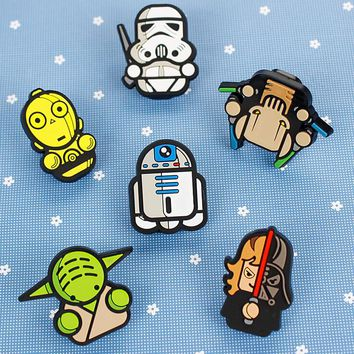 Creative Star Wars PVC Food Sealing Clip Memo Clip Paper Clip Desktop Decorative Crafts School Office Supply