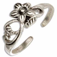 Vine & Flower Toe Ring