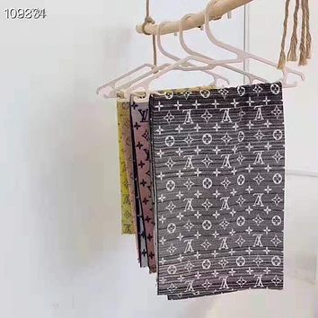 LV fashion casual cashmere gradient jacquard shawl scarf for men and women