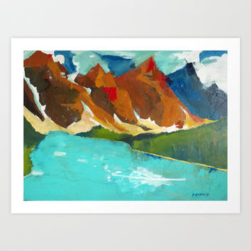 Moraine Lake, Alberta Canada Art Print by James Penfield