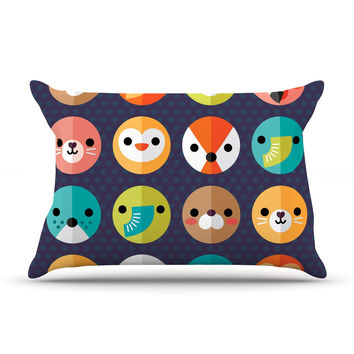 "Daisy Beatrice ""Smiley Faces"" Animals Pillow Sham"
