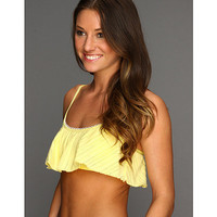 Splendid Ginger Eyelet Removable Soft Cup Crop Top Yellow - Zappos.com Free Shipping BOTH Ways