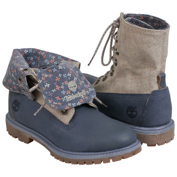 Timberland Women's Earthkeepers Authentics Canvas Fold-Down Casual Boot