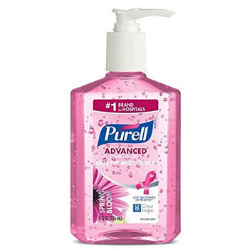 Purell 3014-04-ECIN Instant Hand Sanitizer, Spring Bloom Bottle Benefiting City of Hope, 8 oz., Pink (Pack of 4)