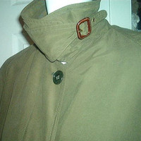 CALVIN KLEIN COAT Saks Fifth Avenue Olive Green Union Made