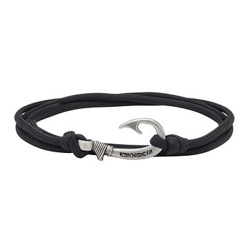 Black Fish Hook Bracelet